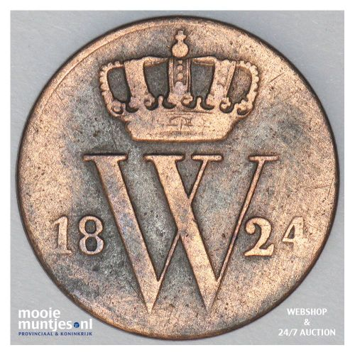 ½ cent - Willem I - 1822 (kant A)