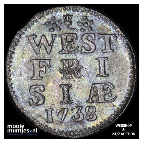 West-Friesland - Pijl- of bezemstuiver - 1760 (kant A)