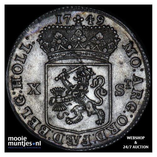 Holland - Halve gulden - 1748 ongerand (kant A)