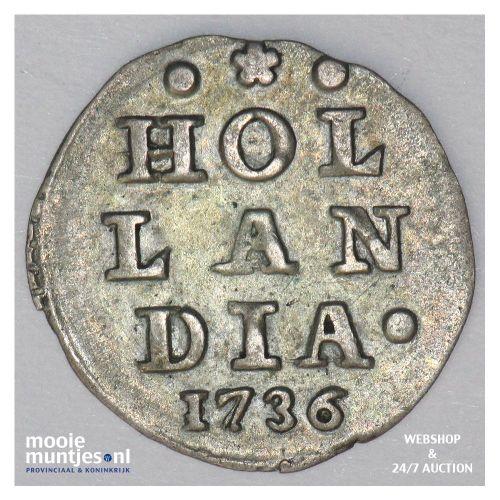 Holland - Wapenstuiver - 1734 (kant A)