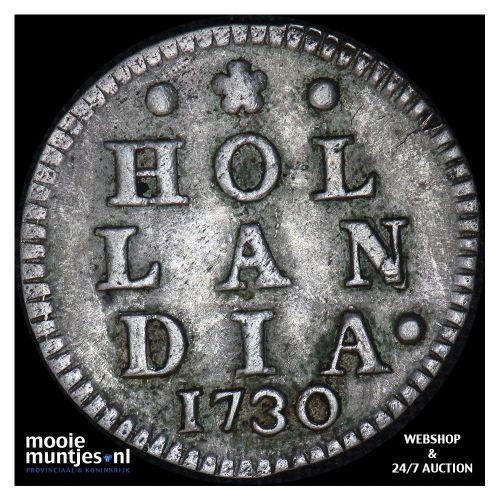 Holland - Dubbele wapenstuiver - 1717 (kant A)