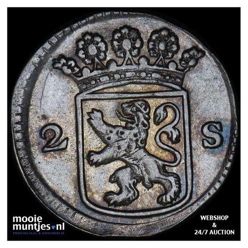 Holland - Dubbele wapenstuiver - 1717 (kant B)