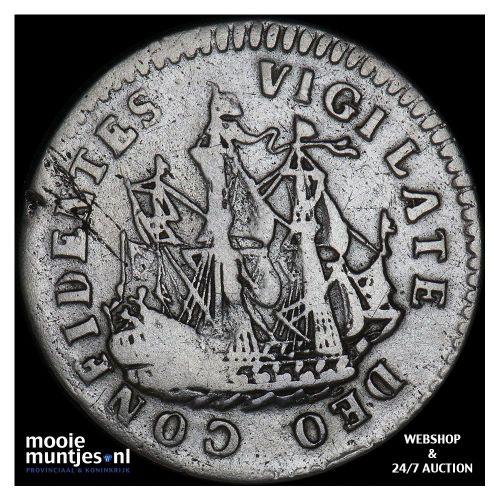 Holland - Scheepjesschelling - 1708 (kant B)