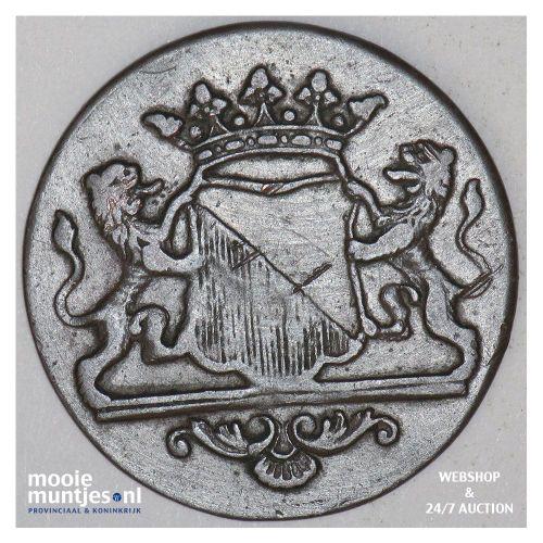 Stad Utrecht - Duit - 1740 (kant B)