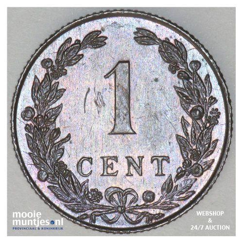 1 cent - Wilhelmina - 1902 (kant B)