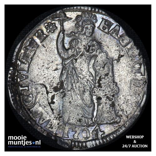 Overijssel - Zilveren dukaat - 1708 (kant A)