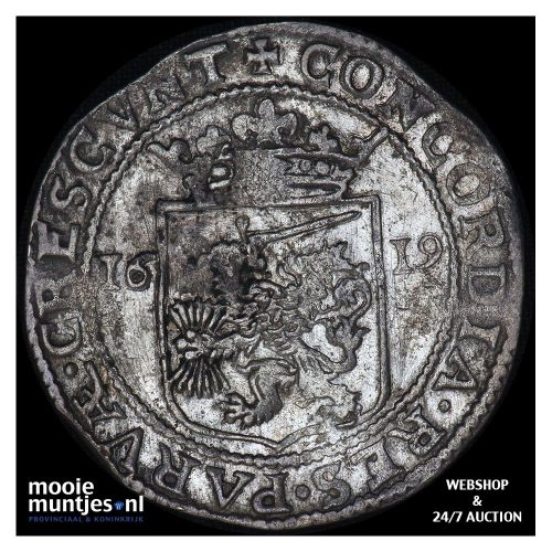 West-Friesland - Zilveren dukaat - 1661 (kant A)