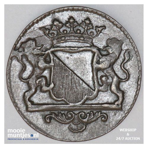 Stad Utrecht - Duit - 1634 (kant B)