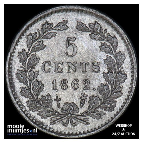 5 cent - Willem III - 1879 (kant A)