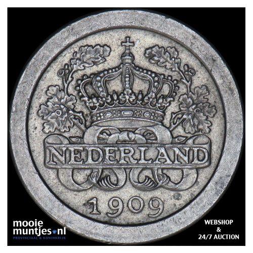 5 cent - Wilhelmina - 1909 (kant A)