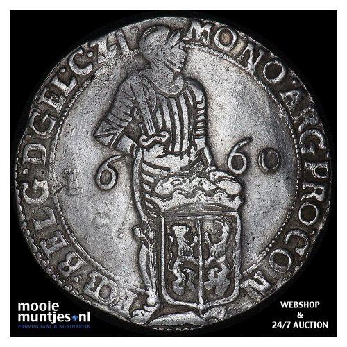 Gelderland - Zilveren dukaat - 1660 (kant A)