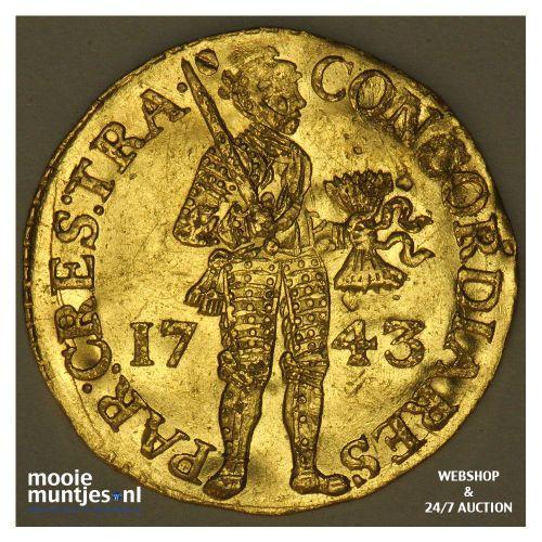 Utrecht - Gouden dukaat - 1743 (kant A)
