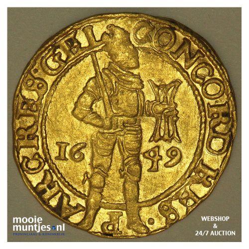 Gelderland - Gouden dukaat - 1649 (kant A)
