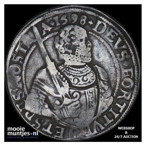West-Friesland - Gehelmde rijksdaalder of Prinsendaalder - 1598 (kant A)
