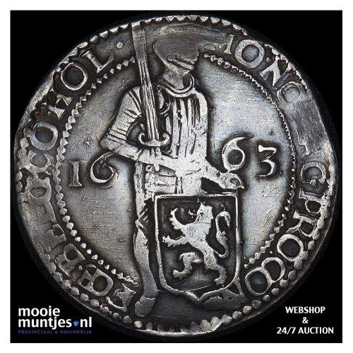 Holland - Zilveren dukaat - 1663 (kant A)