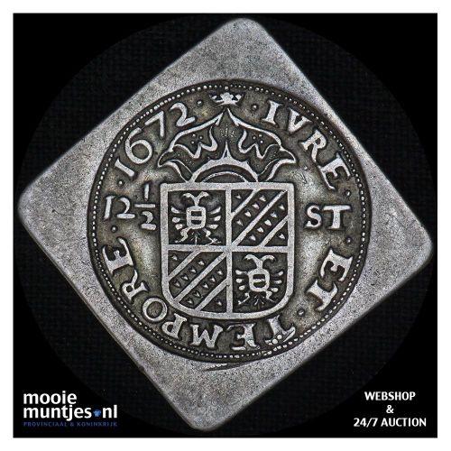 Groningen - 12½ stuiver - 1672 (kant A)