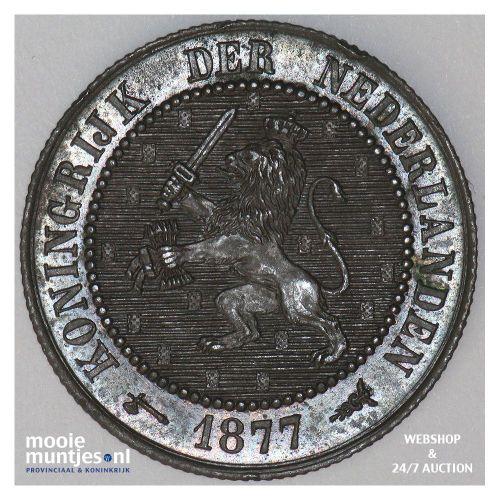 2½ cent - Willem III - 1877 (kant A)