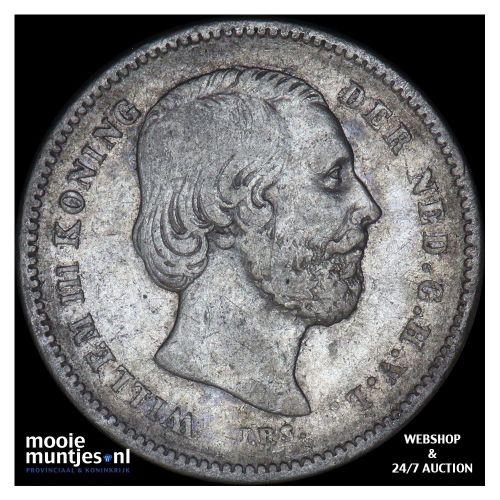 25 cent - Willem III - 1889 (kant B)