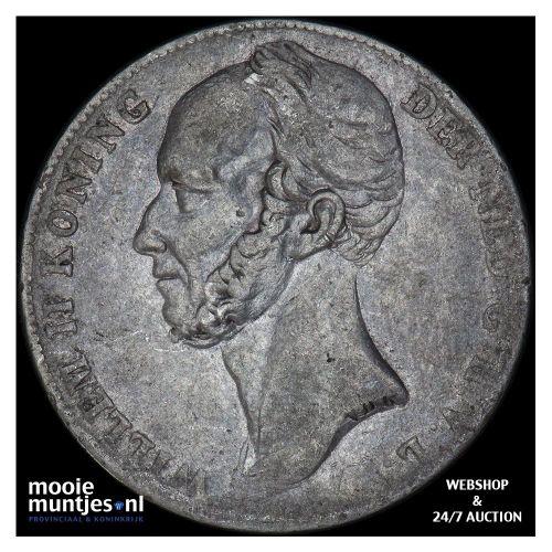 1 gulden - Willem II - 1842 a (kant B)