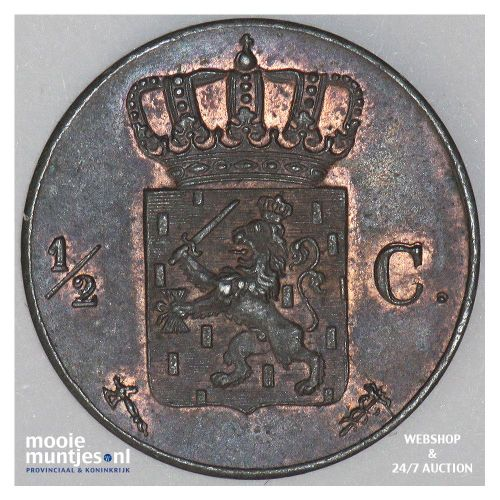 ½ cent - Willem III - 1863 (kant B)