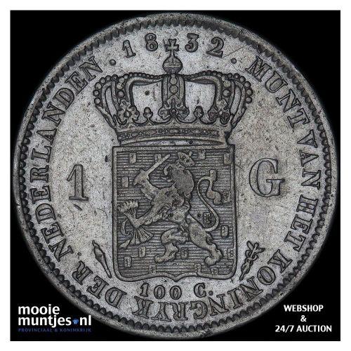 1 gulden - Willem I - 1832 (kant A)