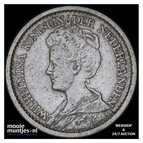 ½ gulden - Wilhelmina - 1904 (kant B)