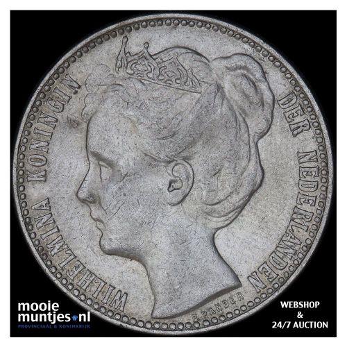 1 gulden - Wilhelmina - 1901 (kant B)