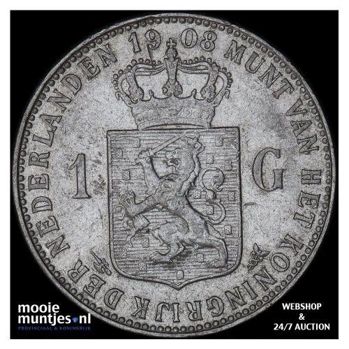 1 gulden - Wilhelmina - 1901 (kant A)