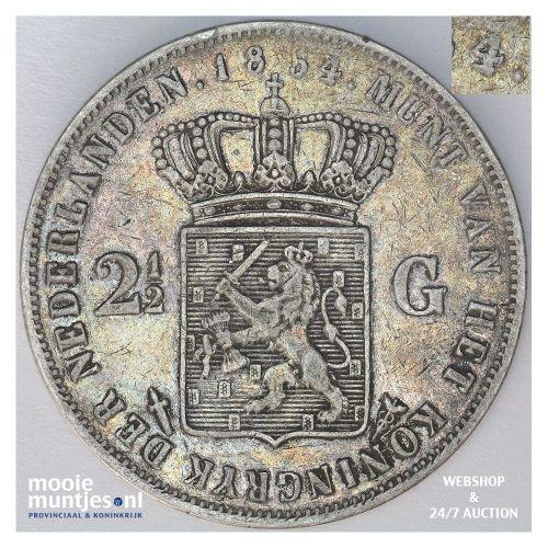 2½ gulden - Willem III - 1854 over 52 (kant A)