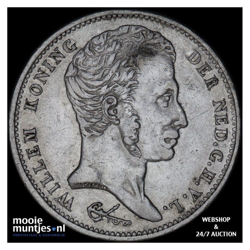 ½ gulden - Willem I - 1829 over 23 (kant B)