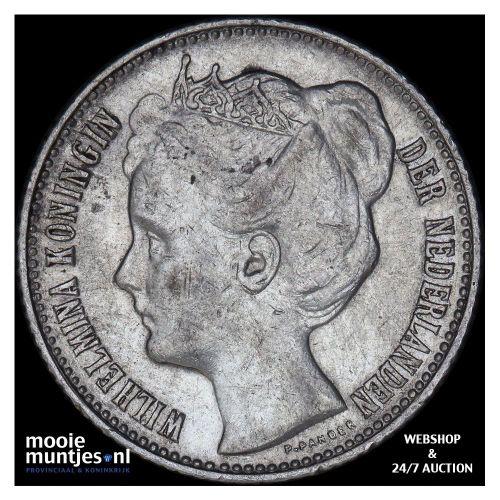½ gulden - Wilhelmina - 1906 (kant B)