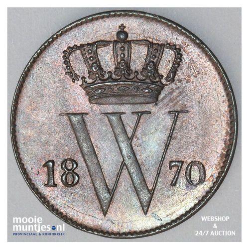 1 cent - Willem III - 1870 (kant A)