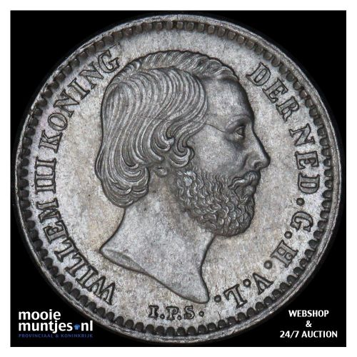 10 cent - Willem III - 1871 (kant B)