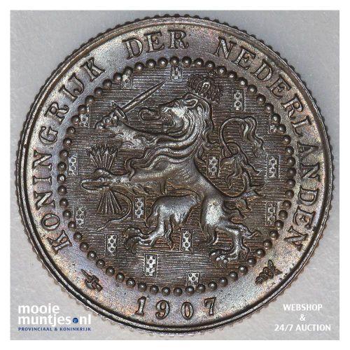 1 cent - Wilhelmina - 1907 (kant A)