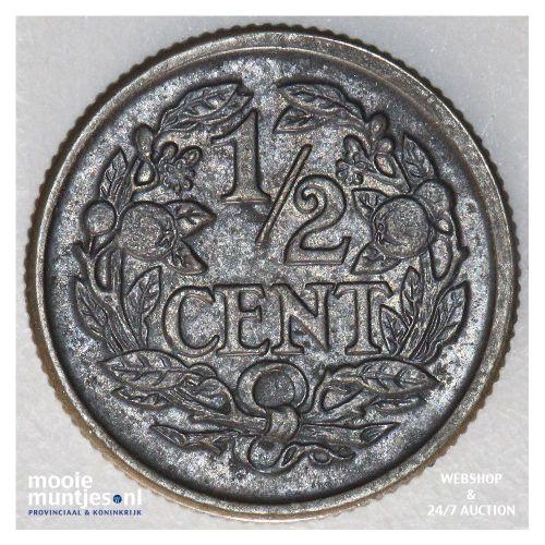 ½ cent - Wilhelmina - 1914 (kant B)