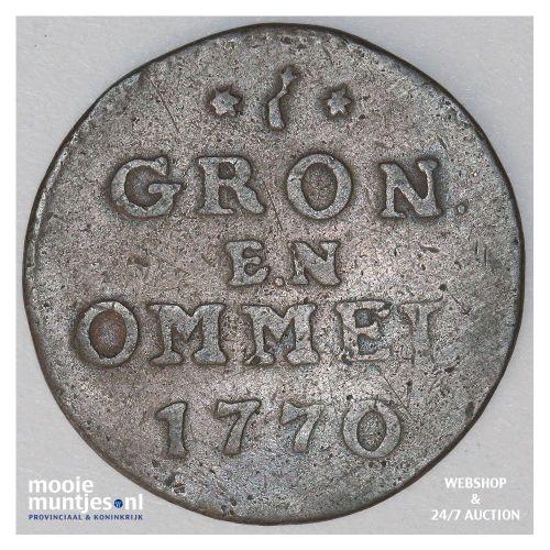 Groningen - Duit - 1770 kleine letters (kant A)