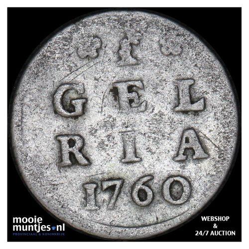 Gelderland - Pijl- of bezemstuiver - 1739 (kant A)