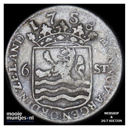 Zeeland - Zilveren dukaat - 1781 (kant A)