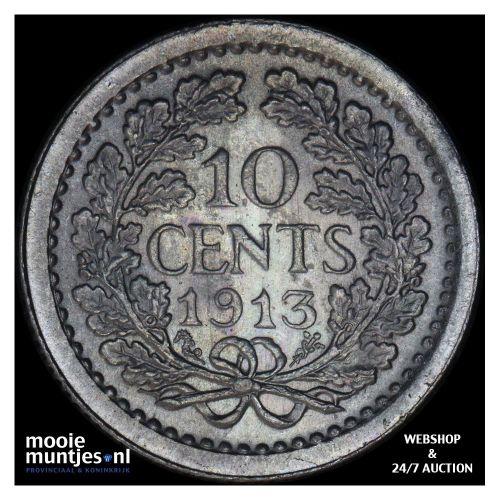 10 cent - Wilhelmina - 1892 (kant A)