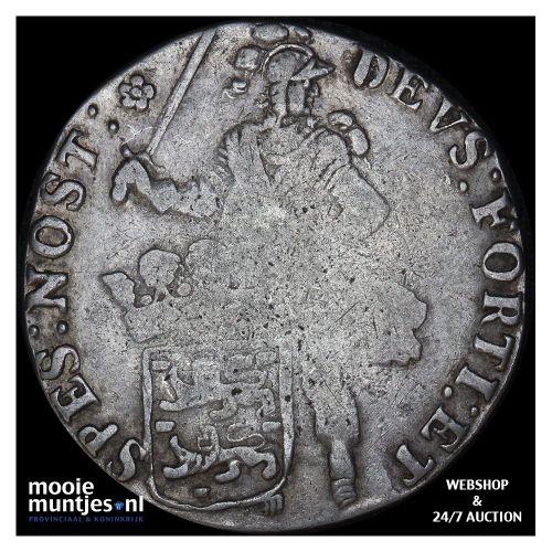 West-Friesland - Halve zilveren rijder of halve dukaton - 1764 (kant B)