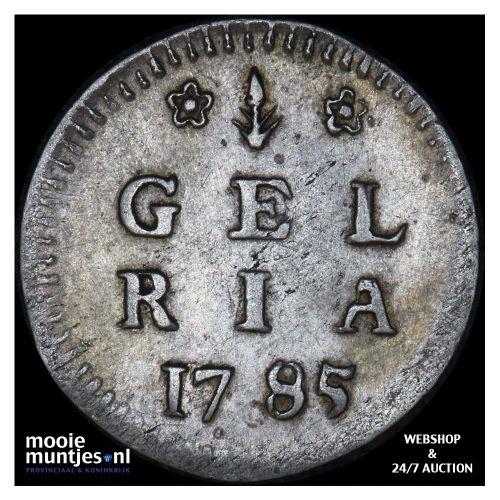 Gelderland - Dubbele wapenstuiver - 1785 (kant A)