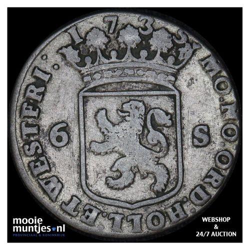 Holland - Scheepjesschelling - 1735 (kant A)