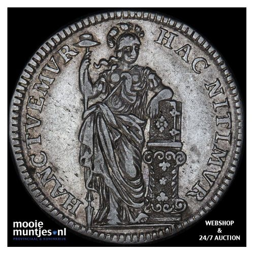 Holland - Halve gulden - 1749 gladde rand (kant B)