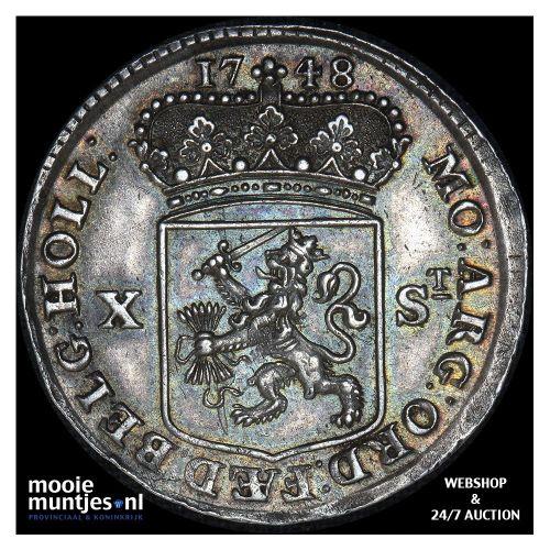 Holland - Halve gulden - 1748 gladde rand (kant A)
