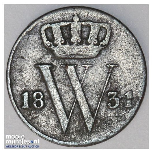 ½ cent - Willem I - 1831 (kant A)