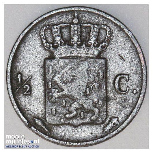 ½ cent - Willem I - 1831 (kant B)