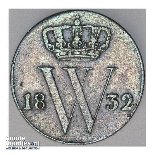 ½ cent - Willem I - 1832 (kant A)