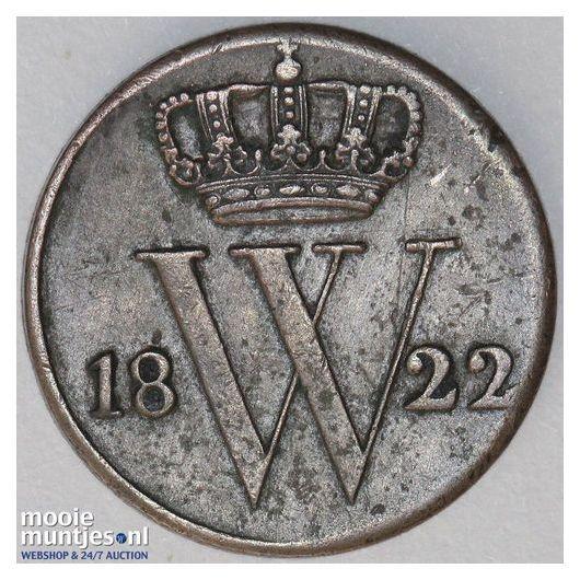 ½ cent - Willem I - 1823 Brussel (kant A)