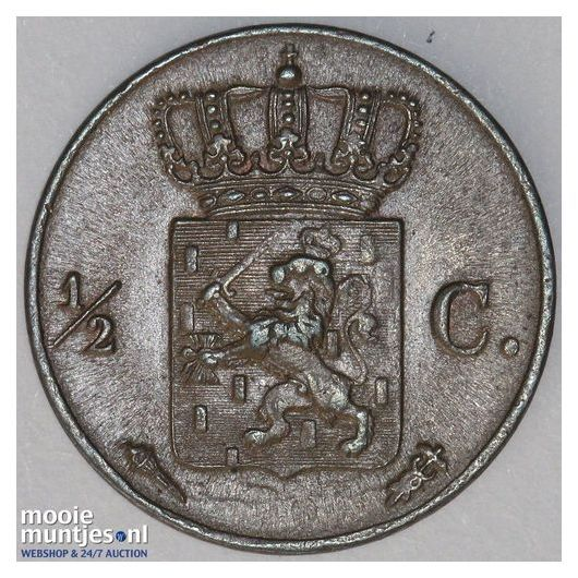 ½ cent - Willem I - 1823 Brussel (kant B)