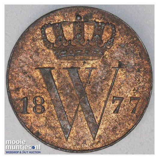 ½ cent - Willem III - 1877 (kant A)